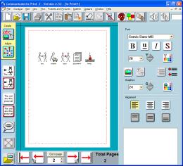 Communicate in print 2 screenshot showing create mode