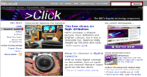 BBC Click website shown with Normal (Medium) Text Size
