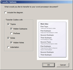 Transfer Options Dialog