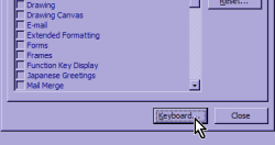 Customize Dialog Screenshot