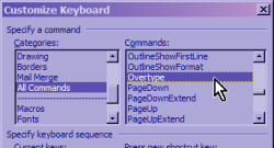 Customize Keyboard Dialog Screenshot