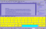 A screenshot of Click N Type in use